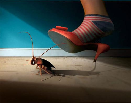 давить тараканов