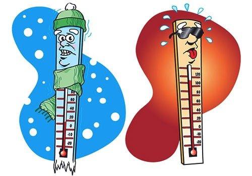 перепады температур