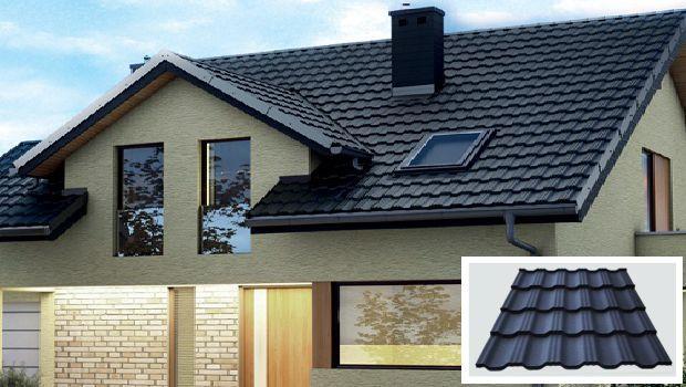 металочерепица на крыше дома