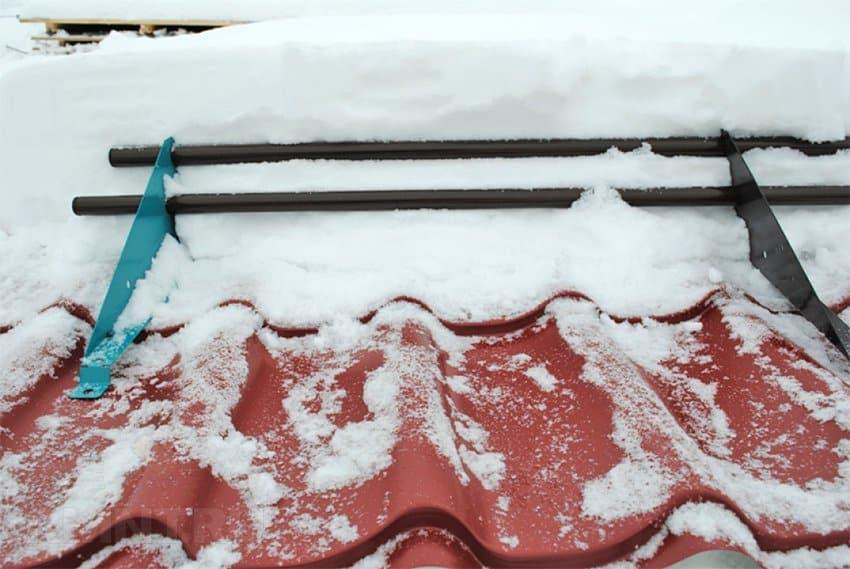 снежные ограждения на крыше