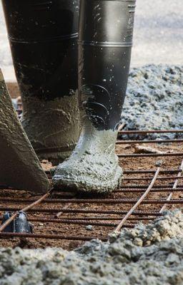 сапоги в цементе