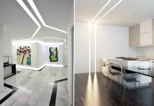 современный потолок в квартире